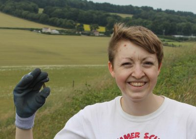 (16/2/17) Emily another archaeology undergrad from southampton university finds a ww1 bullet